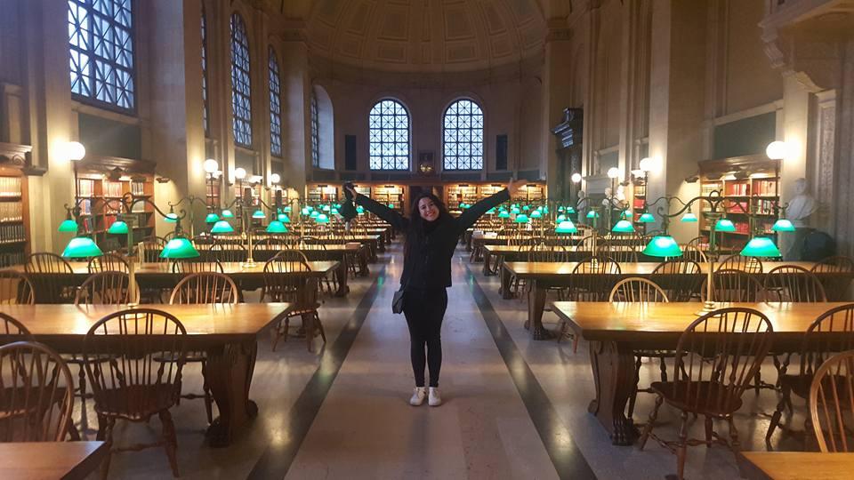 Boston Public Library por dentro.