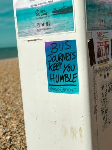 Bus journeys keep you humble